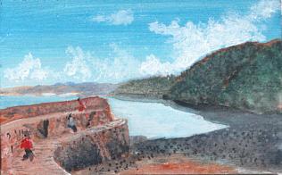 Miniatur Gemälde von Rainer Hillebrand alias Pat Harrison