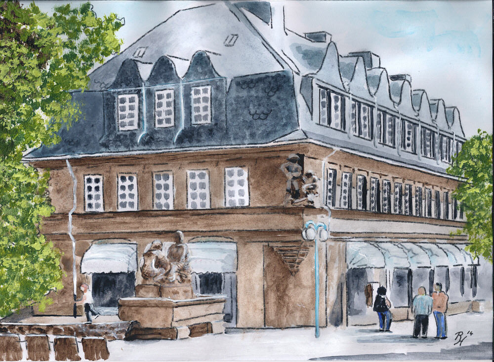 Stadtlandschaft gemalt von Rainer Hillebrand alias Pat Harrison